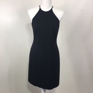 90s Laundry by Shelli Segal Halter Cutout Back